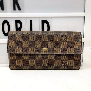 Louis Vuitton Sarah Damier Ebene Long Wallet